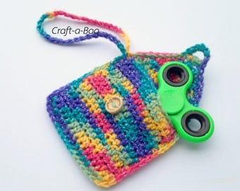 Fidget Spinner Case, Crochet Fidget Spinner Case, Earphone Holder, Lip Balm Pouch, Headphone Case, Guitar Pick Case, Anxiety Reliever Case