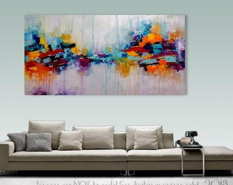 Palette Knife Abstract Painting Modern Painting Art LARGE Painting Wall decor Wall Art Canvas Art Acrylic painting Art by Catalin