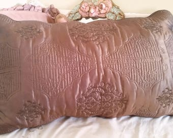 brown pillow case, elven pillow, medieval look, incredible detailing, cosplay home, rivendell