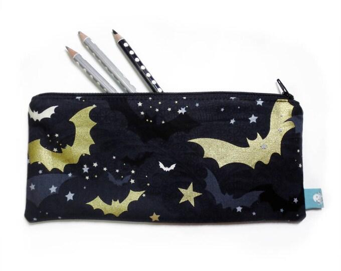 Featured listing image: Spooky Bat Pencil Case