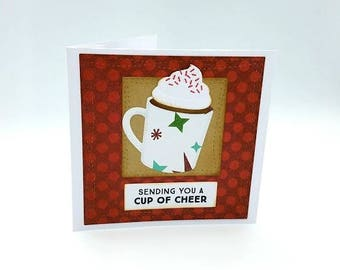Coffee Gift Card Holder/Gift Card/Christmas Card/Teacher Holiday Card/Coach Holiday Card/Secular Card/Holiday Gift Card Holder/Coffee Card