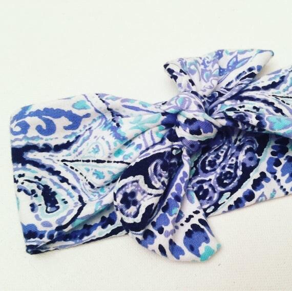 Paisley Printed Bow Headband