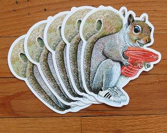 Squirrel With Water Gun Stickers