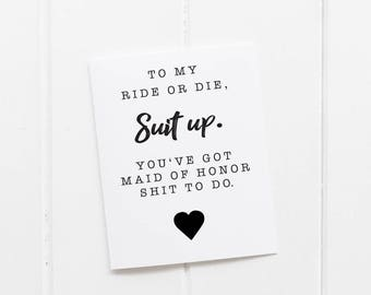 Will You Be My Maid Of Honor - Matron of Honor - Printable - 4 x 6 size