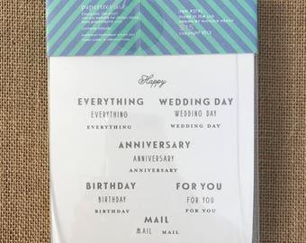 SUPPLY DESTASH - NEW - Papertrey Ink - Everyday Happiness - Acrylic Stamp Set