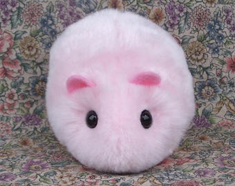 Pink Toy Hamster Cute Handmade Plushie