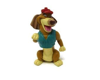 Itchy Toy - All Dogs Go To Heaven Movie - 1989 Toy - PVC Character - 1980s Toy - Dog Toy - Wendys Kids Meal Toy - Vinatge Toy - 1980s Movie
