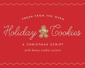 Holiday Cookies, an Christmas Script Font