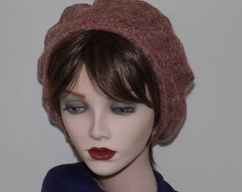 Ladies Pink Beret, Fabric beret