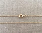 "16"" Gold Filled Light Cable Chain Necklace - 1.2mm - 16"" Necklace - 14k Gold Filled - 16"" Gold Necklace"