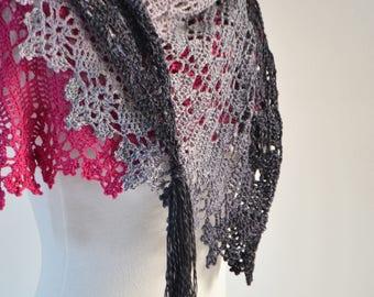 NYOTA, Crochet shawl pattern pdf