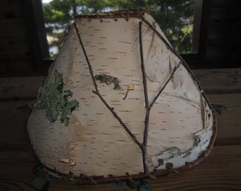 Birch lamp shade etsy birch bark uno fitter lamp shade upcycled handmade handcrafted inv 510 mozeypictures Gallery