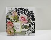 "Handmade Sympathy Card 5,5"" x 5,5"" Anna Griffin victorian greeting card"