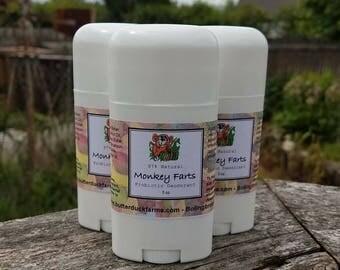 Monkey Farts Natural PROBIOTIC Deodorant - Paraben & Aluminum Free