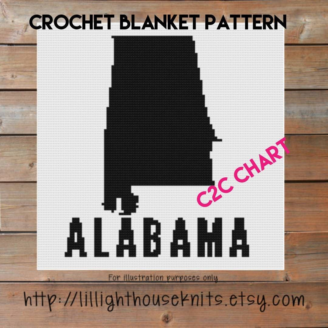 Alabama state crochet chart graph crochet pattern cross stitch this is a digital file bankloansurffo Images