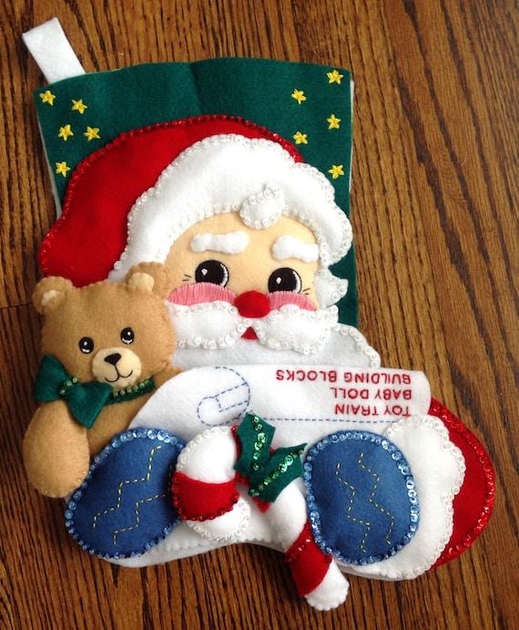 Santa Claus Felt Stockings Bucilla Designs Page Eight