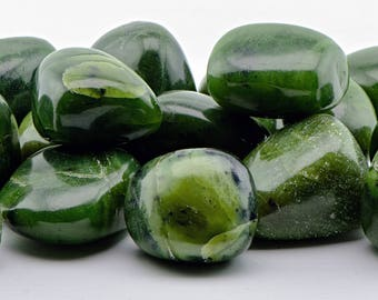 Canada Jade Tumbled Gemstone - Stone of Power and History