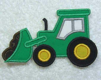 Bulldozer Patch Fabric Embroidered Iron on Applique Patch Ready to Ship