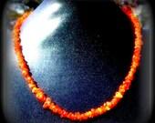 Carnelian Choker necklace, 15 or 16 inch Crystal boho gemstone necklace, Success, Prosperity, happiness stone, SUN STONE