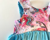New-Special Release - SALE- Mermaids-- Dress, Tunic or Cropped top- Toddler/Girls