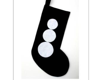 Christmas Stocking / Modern Snowman / gift