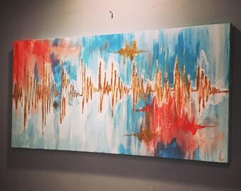 Custom Heartbeat Painting