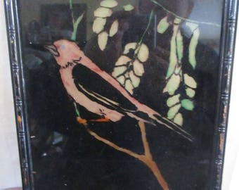 Reverse painting Bird Picture Canary