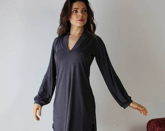 bamboo sleep shirt in tunic length - ICON bamboo sleepwear and lingerie range - made to order