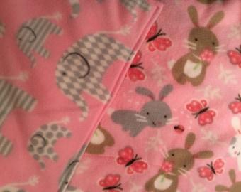 "Pink Pet Liner 55""x29"" Pad Crate Mat Cage Liner C&C Cages 2 layer Fleece Pad"