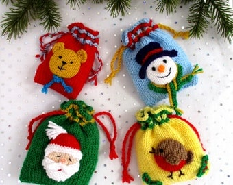 Bags of Festive Fun - Christmas bags - party bags - Christmas tree decorations - PDF instant download