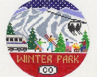 Winter Park Needlepoint Ornament