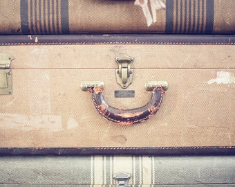 luggage postcard set