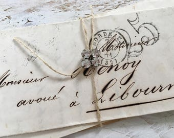 Vintage french letter bundle