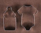 Bébé Cookie Cutter ensemble, bébé bouteille emporte-pièce, bébé Onesie Cookie Cutters, découpe métal, bébé douche emporte-pièces