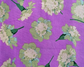 Martha Negley Marigold, lavender, OOP rare, floral fabric remnant