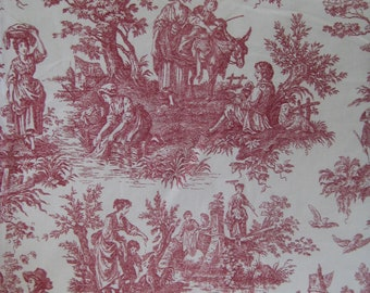 WAVERLY TOILE GARNET Fabric***9.5 yards available by the half yard or yard[s]***Country Weekend***Country Life***New***