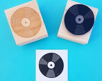 Vinyl Record Rubber Stamp - Music Rubber Stamp - Music Gift - Gift for Music Lover - Retro Rubber Stamp - Vinyl Lover Gift - Music Teacher