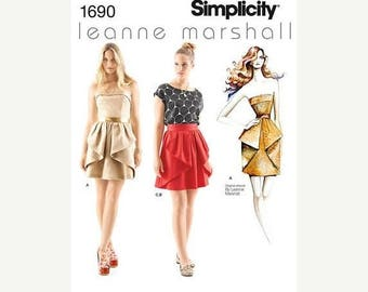 Gorgeous Leanne Marshall Skirts n Tops Pattern 4-12 sz -- 20-50% off Patterns n Books SALE