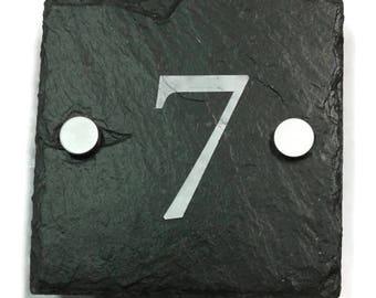 Slate house number single
