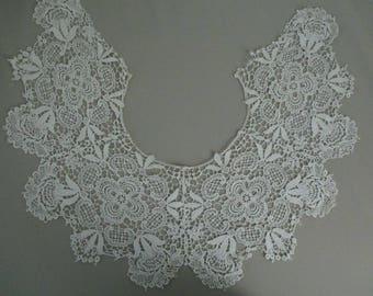 Antique Guipure Lace Collar Large