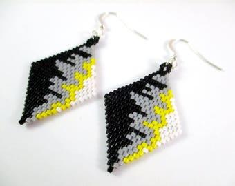 Abstract Diamond Weave Earrings