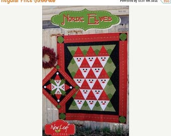 SUMMER SALE Nordic Elves Quilt and Table Topper Pattern