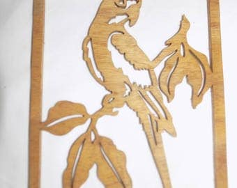 PARROT  SCROLL Saw PLAQUE