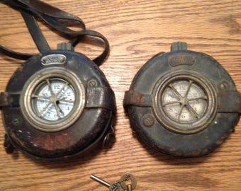 2 vintage Detex Patrol watchmans clock working