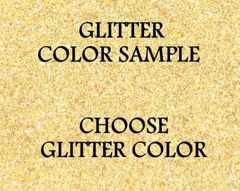 Glitter Color Sample, Small Sample of Glitter on Paper, Sample Chip to Test Color for Matching to Decor or Party, Choose Glitter Color