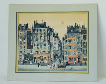 Parade by MICHEL DELACROIX - Art Print French Street Scene Delacroix-Large Print-Plate Signed