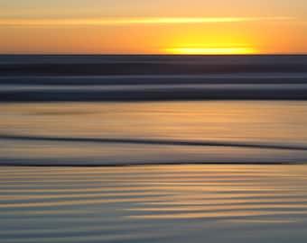 Large Wall Art, Sunset, Abstract Photography, Beach Art, Limited Edition Print, Fine Art Photography, Fine Art Print, Twilight