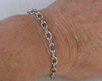 "Sterling Silver  Chain Bracelet 7 """