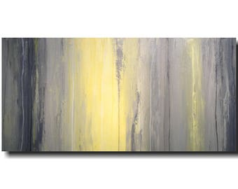 Large abstract painting Jmjartstudio  24 X 48 Inches Gray paintings-oil painting------ always anew  -----wall art
