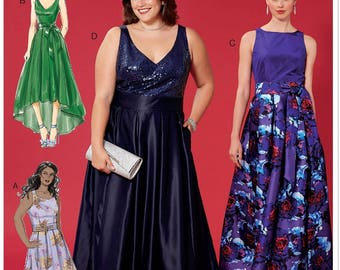 Evening gown pattern | Etsy
